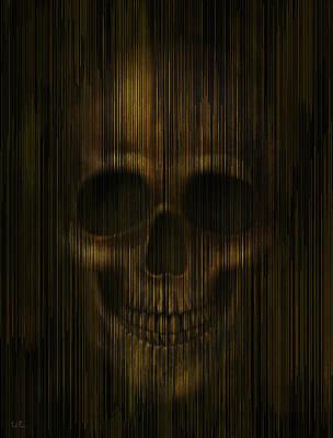 Starlight Skull Poster by Francisco Valle