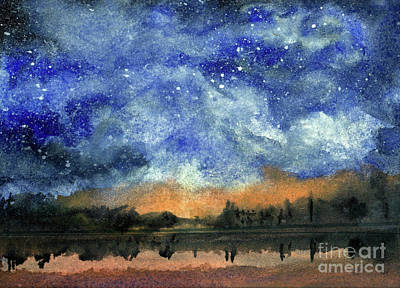 Starry Night Across Our Lake Poster