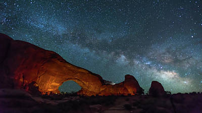 Starry Night At North Window Rock Poster