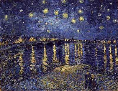 Poster featuring the painting Starry Night Over The Rhone by Van Gogh