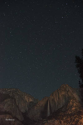 Starry Night Over Yosemite Falls Poster