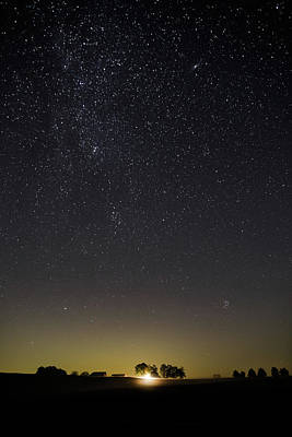 Poster featuring the photograph Starry Sky Over Virginia Farm by Lori Coleman