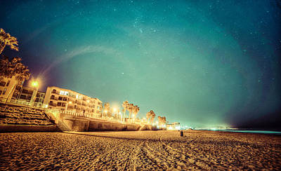Starry Starry Pacific Beach Poster
