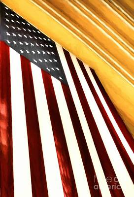 Stars And Stripes At Union Terminal Poster by Mel Steinhauer