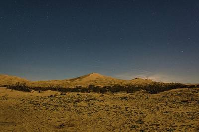 Stars Over Kelso Dunes Poster