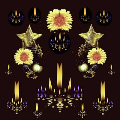 Stars Over The Sacred Sea Of Candles Poster by Pepita Selles