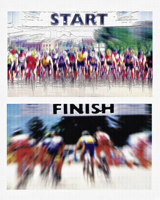 Start And Finish Lines Diptych Poster by Steve Ohlsen