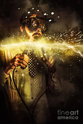 Start Up Business Man With Explosive Idea Poster by Jorgo Photography - Wall Art Gallery