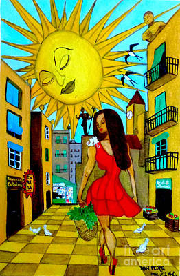 Poster featuring the painting Starting A New Day by Don Pedro De Gracia