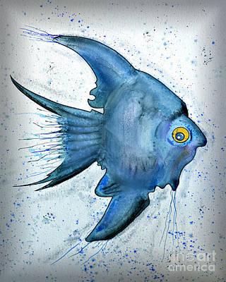 Startled Fish Poster by Walt Foegelle