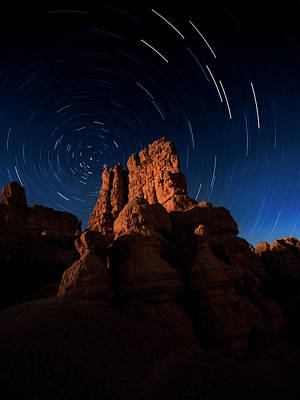 Poster featuring the photograph Stary Trails At Red Canyon by Edgars Erglis