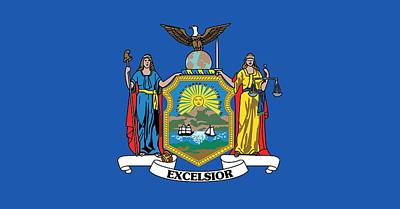 State Flag Of New York Poster by American School