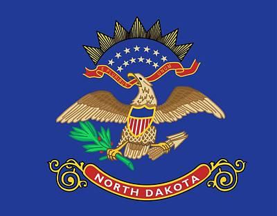 State Flag Of North Dakota Poster