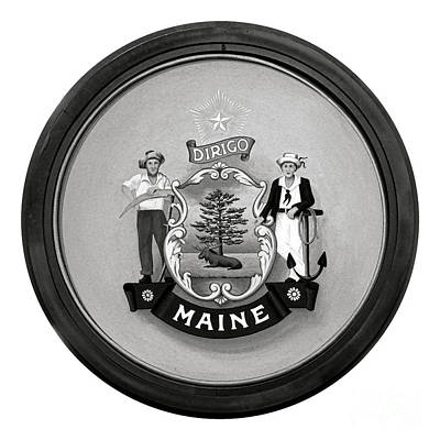 State Of Maine Seal Poster by Olivier Le Queinec