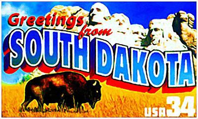 State Of South Dakota Poster by Lanjee Chee