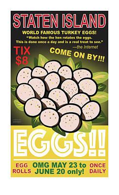 Staten Islands Eggs Poster