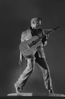 Statue Of A Young Elvis Presley  Poster