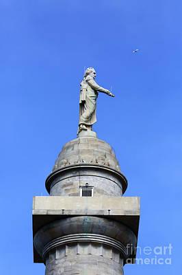 Statue Of George Washington On Washington Monument Baltimore Poster