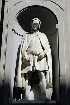Statue Of Giotto Di Bondone At The Uffizi Gallery In Florence It Poster by Reimar Gaertner