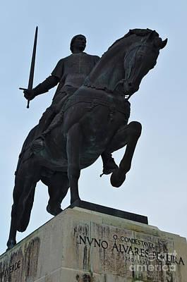 Statue Of Nuno Alvares Pereira. Batalha, Portugal Poster