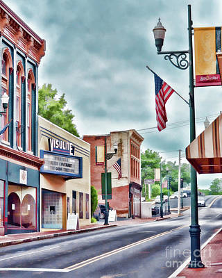 Poster featuring the photograph Staunton Virginia - Art Of The Small Town by Kerri Farley