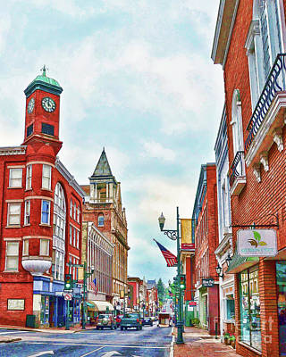 Poster featuring the photograph Staunton Virginia - The Queen City - Art Of The Small Town by Kerri Farley
