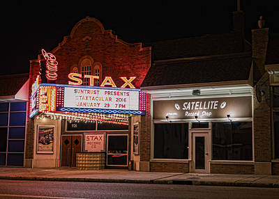 Stax Records - Memphis Poster