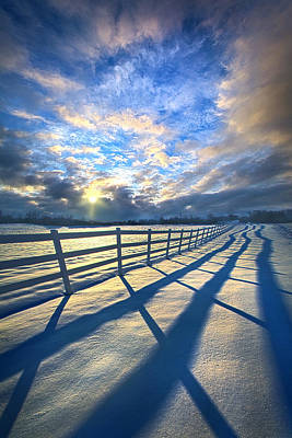 Staying Between The Lines Poster by Phil Koch