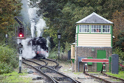 Steam Engine Approaching Alton Poster