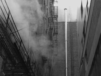 Steam In The Alley 4 Poster by Anna Villarreal Garbis