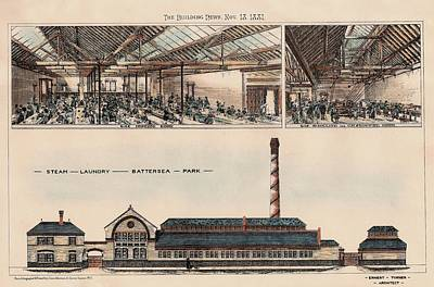 Steam Laundry At Battersea Park England 1881 Poster