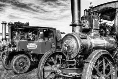 Steam Lorry And Traction Engine Poster