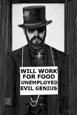 Steam Punk Evil Genius Poster by Larry Lamb