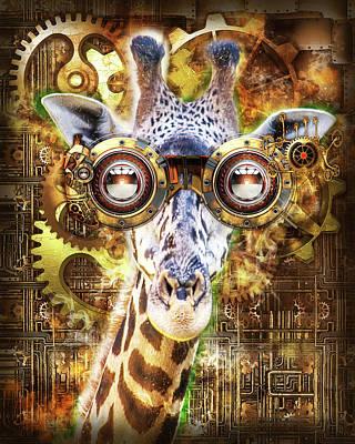 Steam Punk Giraffe Poster