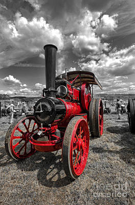 Steam Traction Engine Poster by Nichola Denny