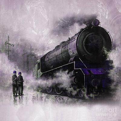 Steam Train Art 56u Poster