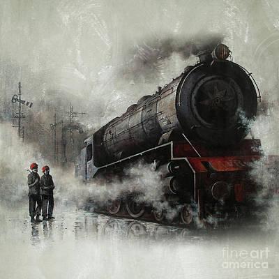 Steam Train Engine 01 Poster