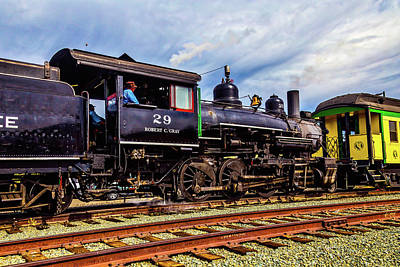 Steam Train Moving Passengar Car Poster by Garry Gay