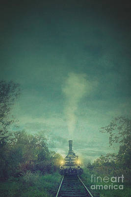 Steam Train Poster by Mythja Photography