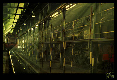 Steam Train Shed Kimberly Poster