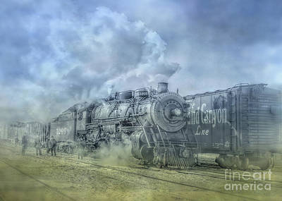 Steam Train Toned Poster