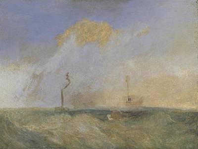 Steamer And Lightship Poster