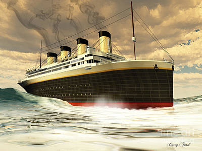 Steamer Ship Poster by Corey Ford