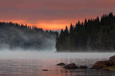 Steaming Lake Poster by Evgeni Dinev