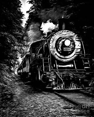 Steaming Through The Pass Poster by Edward Fielding
