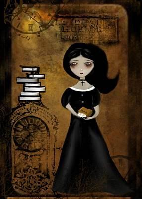 Steampunk Bibliophile Poster by Charlene Zatloukal