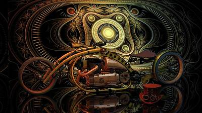 Poster featuring the photograph Steampunk Chopper by Louis Ferreira