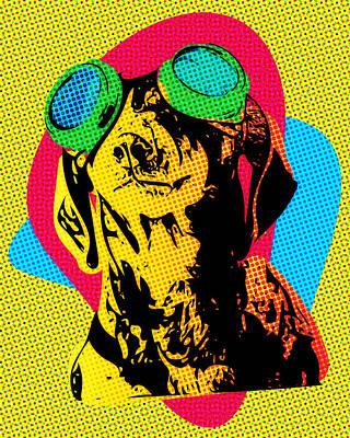 Steampunk Dachshund Pop Art Poster