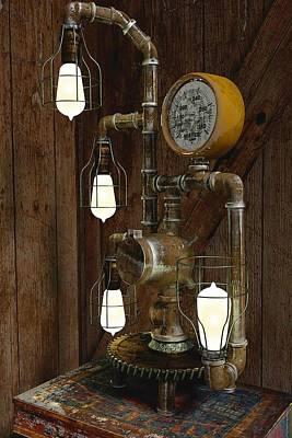 Steampunk Lamp Poster