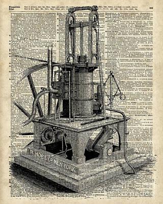 Steampunk Machine Poster by Jacob Kuch